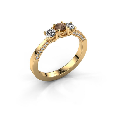 Verlobungsring Rivka 585 Gold Braun Diamant 0.50 crt