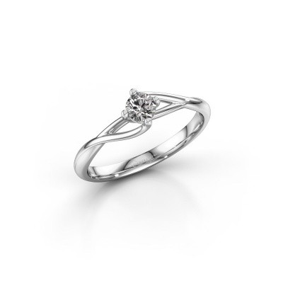 Picture of Engagement ring Paulien 925 silver lab-grown diamond 0.25 crt