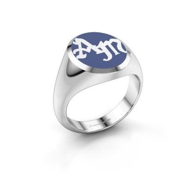 Foto van Monogram ring Brad Emaille 925 zilver