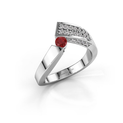 Ring Evie 585 white gold ruby 3.4 mm
