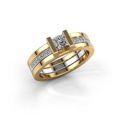 Foto van Ring Desire 585 goud zirkonia 4 mm