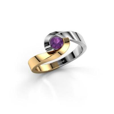 Foto van Ring Sheryl 585 goud amethist 4 mm