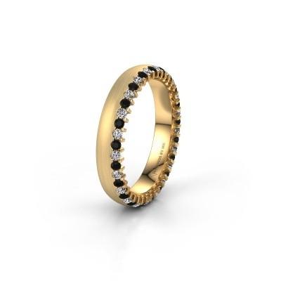 Trouwring WH2138L24B 375 goud zwarte diamant ±4x2 mm