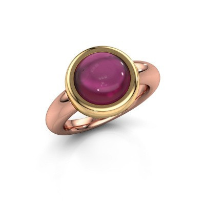 Ring Jenae 585 rose gold rhodolite 10 mm