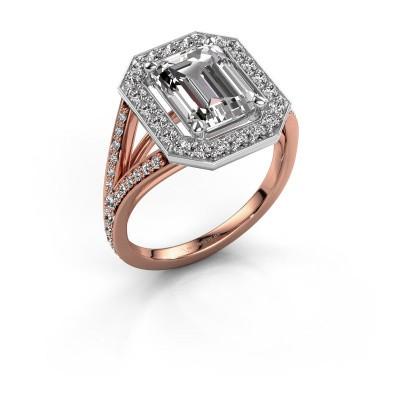 Bague de fiançailles Angelita EME 585 or rose diamant 2.978 crt