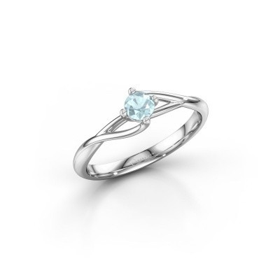 Picture of Engagement ring Paulien 585 white gold aquamarine 4 mm