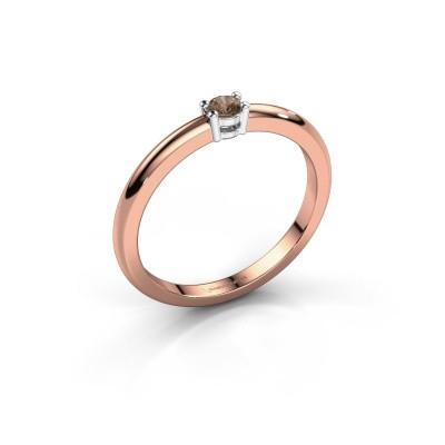 Foto van Verlovingsring Michelle 1 585 rosé goud bruine diamant 0.08 crt