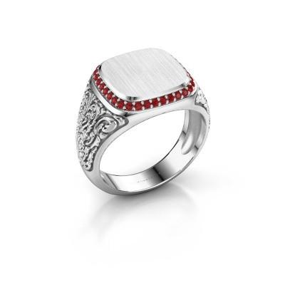 Heren ring Jesse 2 950 platina robijn 1.2 mm
