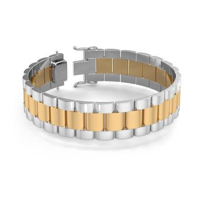 Foto van Rolex style armband Erik 18 mm 585 goud