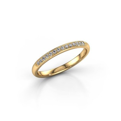 Stackable ring SR20B4H 375 gold diamond 0.113 crt