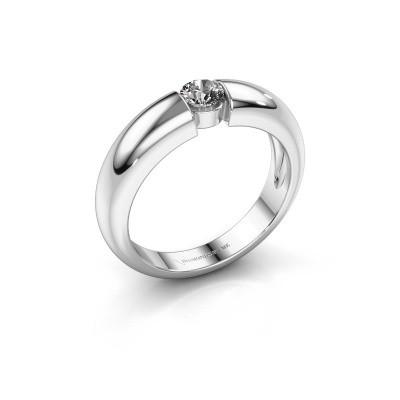 Verlovingsring Amelia 950 platina diamant 0.25 crt
