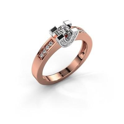 Verlovingsring Jasmijn 2 585 rosé goud lab-grown diamant 0.41 crt