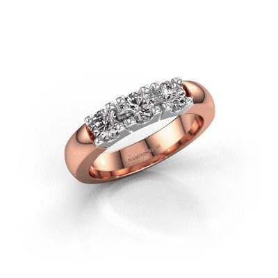 Picture of Engagement ring Rianne 3 585 rose gold diamond 0.75 crt