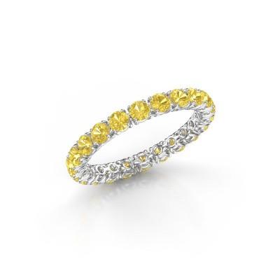 Foto van Ring Vivienne 2.7 585 witgoud gele saffier 2.7 mm