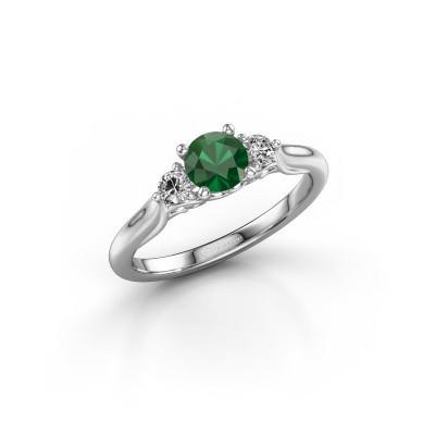Foto van Verlovingsring Laurian RND 950 platina smaragd 5 mm