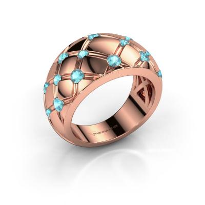 Ring Imke 585 rose gold blue topaz 2.5 mm