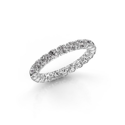 Photo de Bague Vivienne 2.7 585 or blanc diamant 1.68 crt