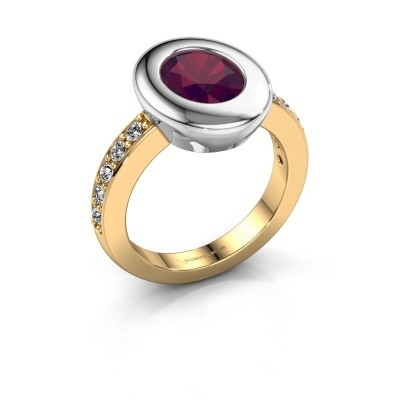 Ring Selene 2 585 gold rhodolite 9x7 mm