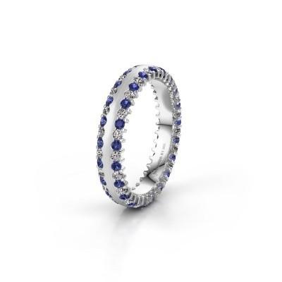Wedding ring WH2139L24B 925 silver sapphire ±4x2 mm