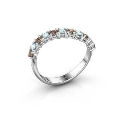 Ring Eliza 585 Weißgold Braun Diamant 0.18 crt