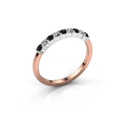 Picture of Engagement ring Yasmin 9 585 rose gold black diamond 0.55 crt