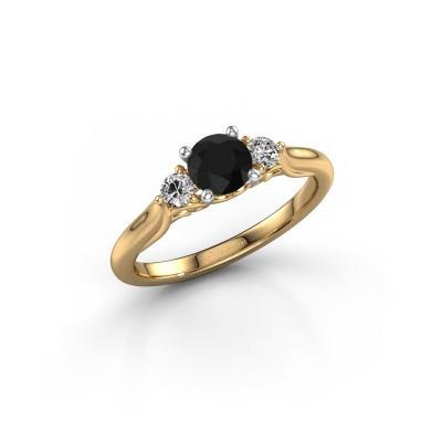 Foto van Verlovingsring Laurian RND 585 goud zwarte diamant 0.80 crt