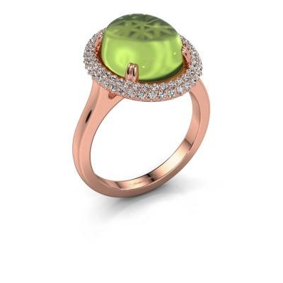 Ring Jayna 375 rosé goud peridoot 12x10 mm