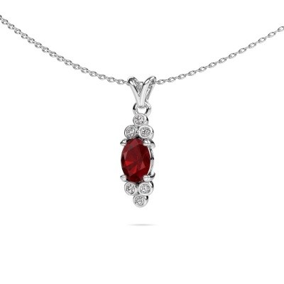Picture of Pendant Lucy 2 585 white gold ruby 7x5 mm