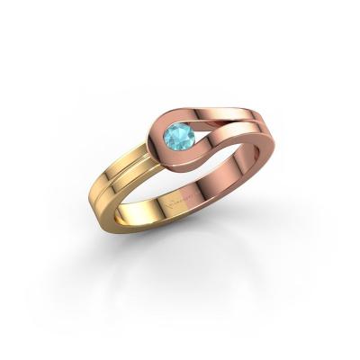 Ring Kiki 585 rose gold blue topaz 3 mm