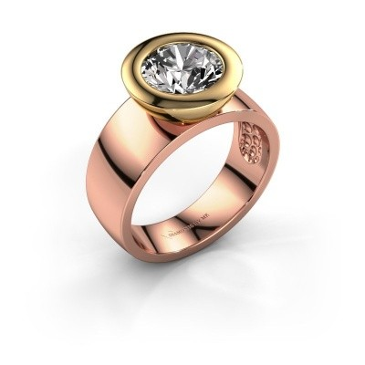 Ring Maxime 585 Roségold Zirkonia 8 mm