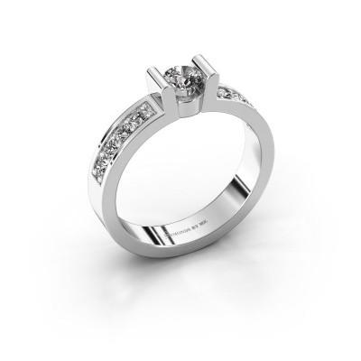 Verlovingsring Sofie 2 585 witgoud diamant 0.25 crt