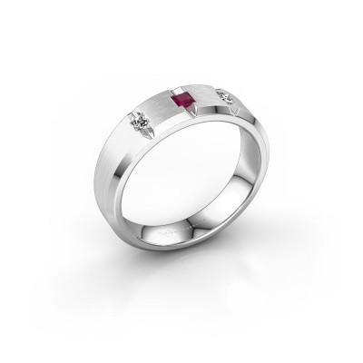 Foto van Mannen ring Justin 585 witgoud rhodoliet 2.5 mm