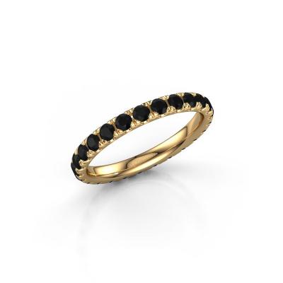 Photo de Bague Jackie 2.3 585 or jaune diamant noir 1.50 crt