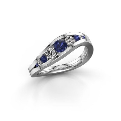Picture of Ring Sigrid 2 950 platinum sapphire 4 mm