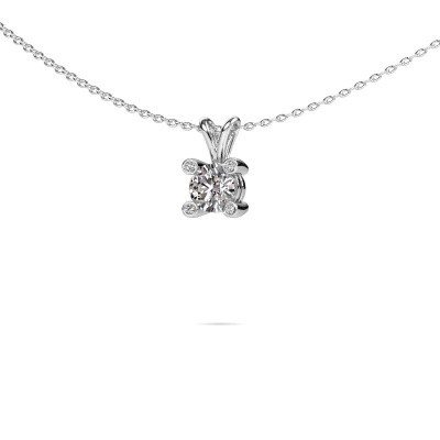Photo de Pendentif Fleur 925 argent diamant synthétique 0.50 crt