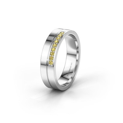 Wedding ring WH0213L15AP 925 silver yellow sapphire ±0.20x0.07 in