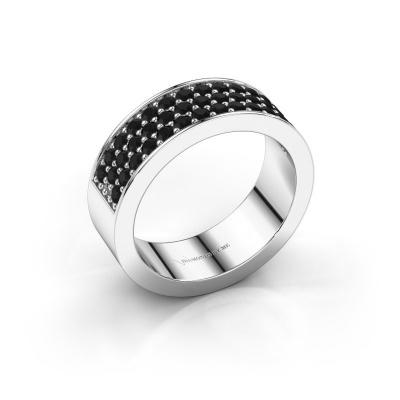 Ring Lindsey 6 585 witgoud zwarte diamant 0.984 crt