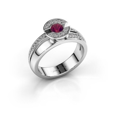 Picture of Ring Jeanet 2 925 silver rhodolite 4 mm