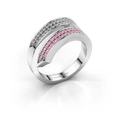 Ring Pien 585 white gold pink sapphire 1.2 mm