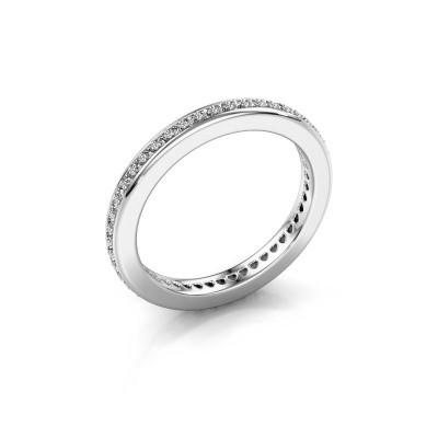 Foto van Aanschuifring Elvire 2 925 zilver diamant 0.345 crt