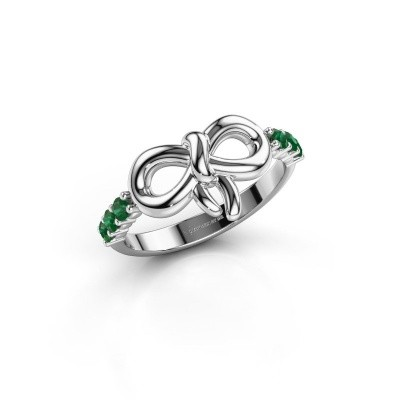 Ring Olympia 925 zilver smaragd 2.2 mm