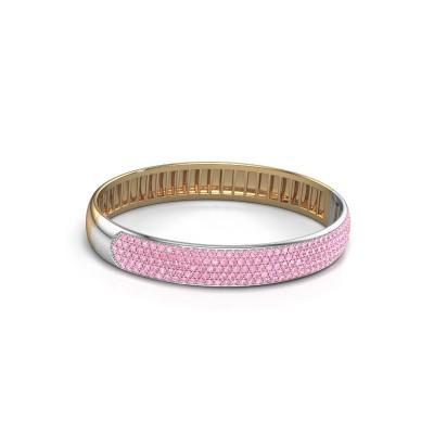 Slavenarmband Emely 10mm 585 goud roze saffier 1.7 mm