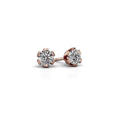 Foto van Oorstekers Julia 375 rosé goud diamant 0.30 crt
