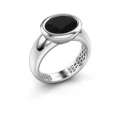 Ring Evelyne 925 zilver zwarte diamant 3.24 crt