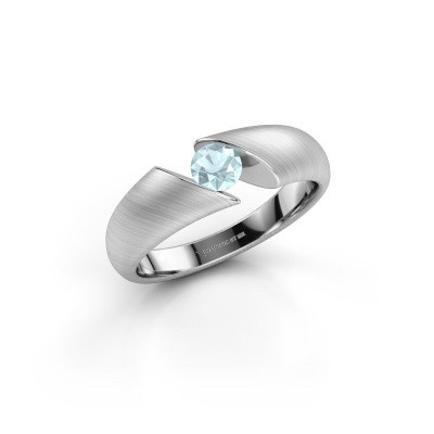 Picture of Ring Hojalien 1 585 white gold aquamarine 4.2 mm