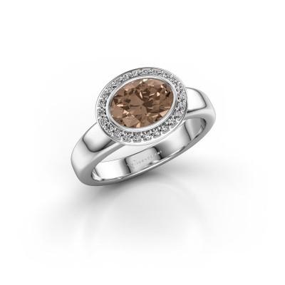 Foto van Ring Salena 925 zilver bruine diamant 1.15 crt