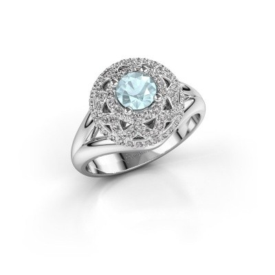 Ring Leonora 585 white gold aquamarine 5 mm