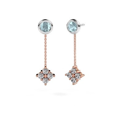 Picture of Drop earrings Ardith 585 rose gold diamond 0.80 crt