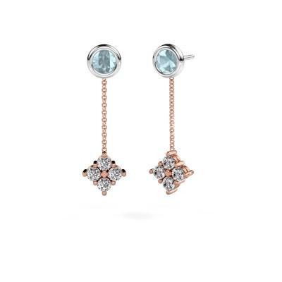 Bild von Ohrhänger Ardith 585 Roségold Diamant 0.80 crt
