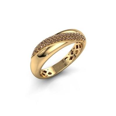 Foto van Ring Rosie 375 goud bruine diamant 0.259 crt